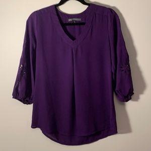 Brixon Ivy Tops - STITCH FIX Brixon Ivy Elmar 3/4 sl cut-out blouse